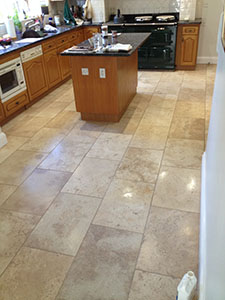 Travertine stone floor cleaners, Oxshott